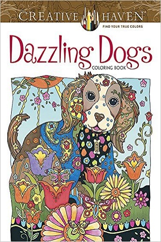 Creative Haven Dazzling Dogs Coloring Book (Adult Coloring) Review